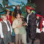 """TREASURE ISLAND"" continues through Nov. 28 at Sutter St. Theatre. The play features a cast ages 9-72. Pictured left to right are Elio Gutierrez, Casey Camacho, Cassidy Cagney, Monique Lonergan and Riley Spieler."