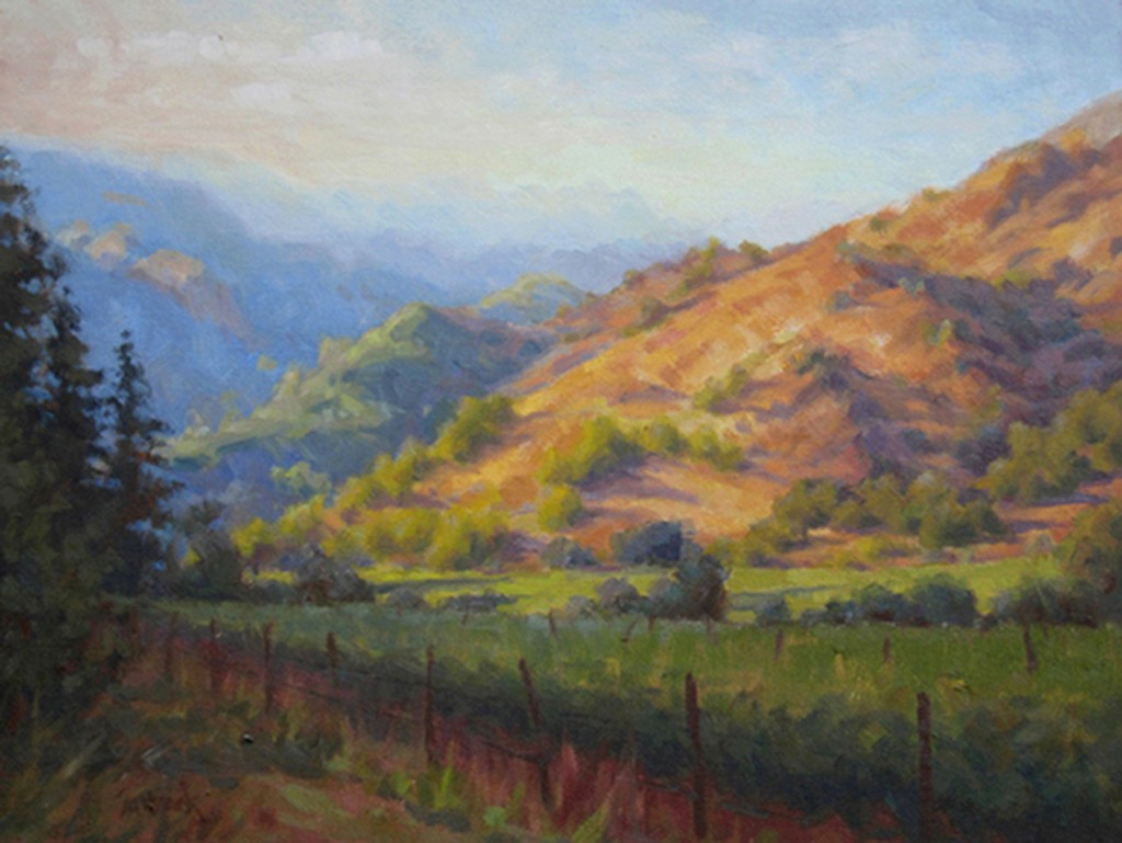 Late Day Vineyard, by Susan Sarback.
