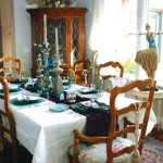 HOMES FOR THE HOLIDAYS participant Christa Dixon decorated her dining room in cool, winter tones. Ticket holders can walk through six beautifully decorated El Dorado Hills homes during this weekend's tour. Villlage Life photo by Shelly Thorene
