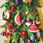 A CHRISTMAS TREE with a fruity theme adds fun to the Homes for the Holidays tour. Village Life photo Shelly Thorene