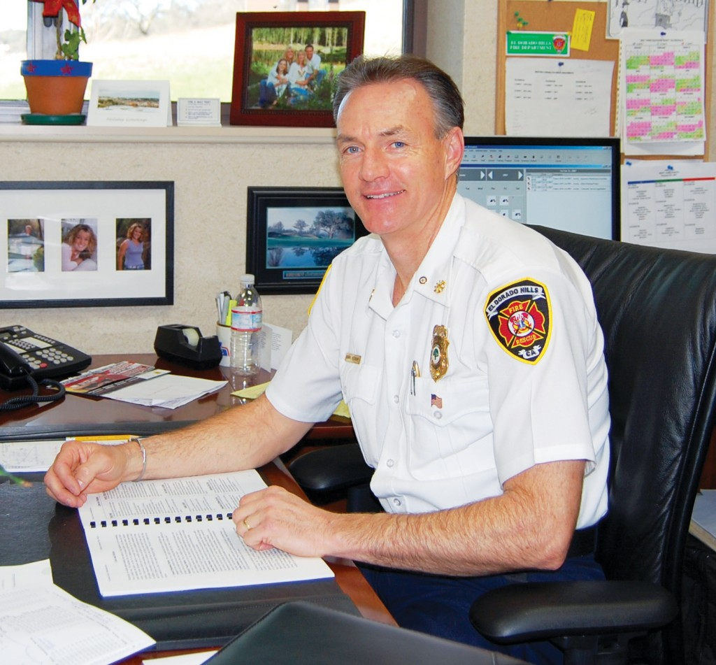El Dorado Hills Fire Chief Brian Veerkamp has served in the department's top spot for four-and-a-half years. Village Life photo by Mike Roberts