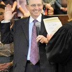 District 4 Supervisor Ron Briggs is all smiles at the swearing in ceremony Monday. Mother Lode News photo by Pat Dollins