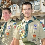"FLYING HIGH —€"" After years of dedication to the Boy Scouts Madison Sheridan, left, and Tyler Garrett will earn their Eagle Scout. Village Life photo by Shelly Thorene"