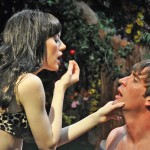 "PASSION — Adam (Jason Kuykendall) and Eve (Lyndsy Kail) discover love in ""Searching for Eden,"" showing at B Street Theatre. Courtesy photo"