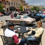 VIETNAM VETERAN Bill Blaylock, 63, and his wife Betty 61, enjoy a cup of coffee at the Fallen Warriors car show Saturday. Bill served with C Battery 1st Batallion 44th artillary. Photo by Jason Bross