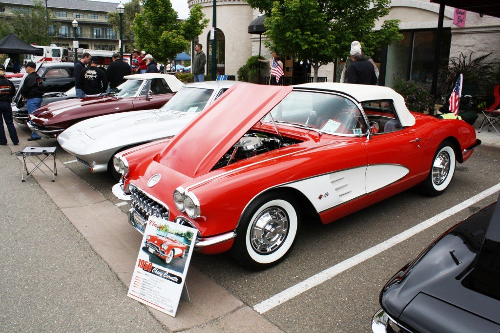 CHERRY — John and Carmen Clelmens' 1959 Corvette couldn't get any prettier. The El Dorado Hills couple showed off their pride and joy at the Fallen Warriors car show at Town Center. Photo by Jason Bross