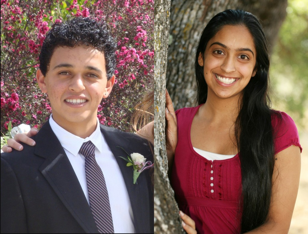 FUTURES IN HEALTH CARE — Kadra Behizad, right, and Navneet Kahlon received scholarships from Marshall Medical Center. Courtesly photo