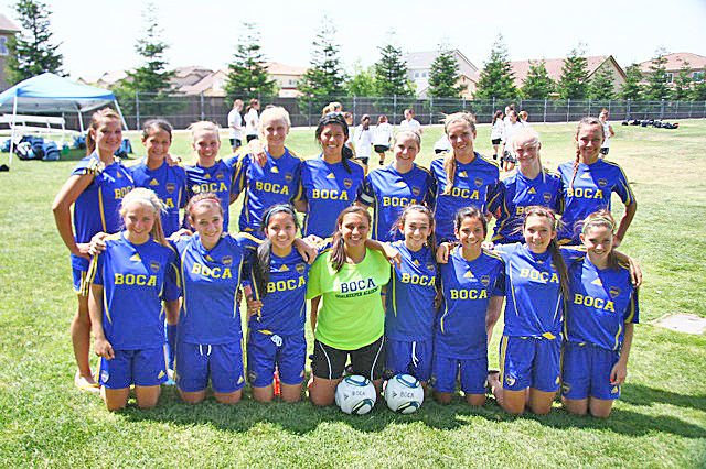 CASA BOCA Jrs. '95 won it all in Pleasanton. The players from El Dorado and Sacramento counties are: Savannah Droke, Caitlin Hoversten, Jessica Becker, Emily Hansen, Mia Sapiandante, Julia Beck, Julia Crawford, Elizabeth Hutchinson and Sheridan Fox, back row left to right, and Jenna Mark, Elena Hanson, Alyssa Andres, Dominique Fernandez, Melissa Hanson, Selena Brewer, Brittany Gisin and Marian Haarmeyer, front row left to right. Courtesy photo