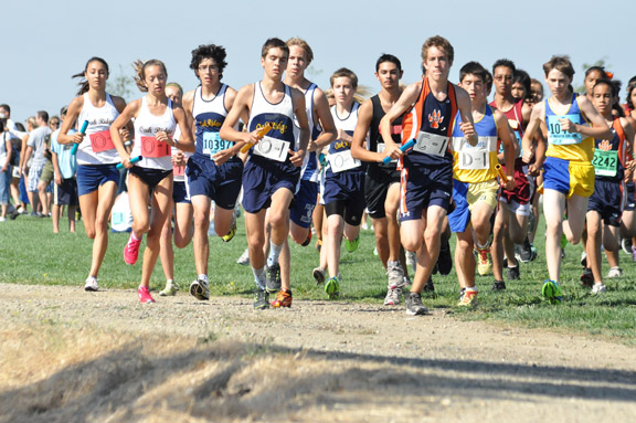 RUN — Oak Ridge High School cross country runners take off during the Willow Hills Relays. Courtesy photo