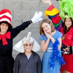 """Seussical, Jr."" actors at Marina Village Middle School include from left to right: Tyler Barth, Tom Janus, Delaney Kelleher and Jackie Limm. Photo by Diane Orciuoli"