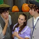 "Bringing a legend to life —€"" Christopher Celestin, Cassidy Cagney and Brady Tait, left to right, perform in ""The Legend of Sleepy Hollow."" Photo by Allen Schmeltz"