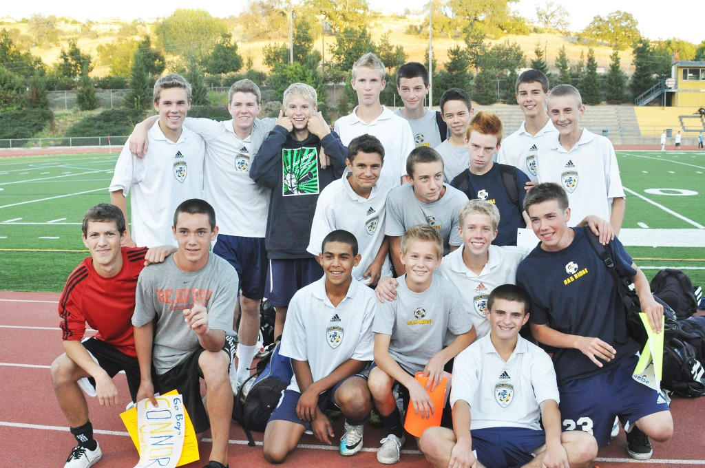 The JV Trojan soccer team earned an impressive 9-1 record this season. Courtesy photo