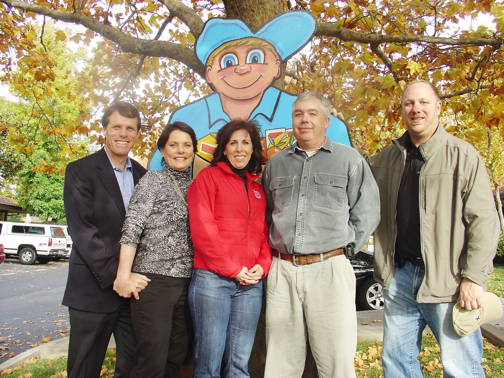 Senator Ted Gaines, Assemblywoman Beth Gaines, Alicia Rockwell of Savemart Supermarkets, Mike Sproull of the Food Bank of El Dorado County and Evan Jacobs of American Water, left to right, all helped to ensure families wouldn't go without a Thanksgiving turkey. Courtesy photo