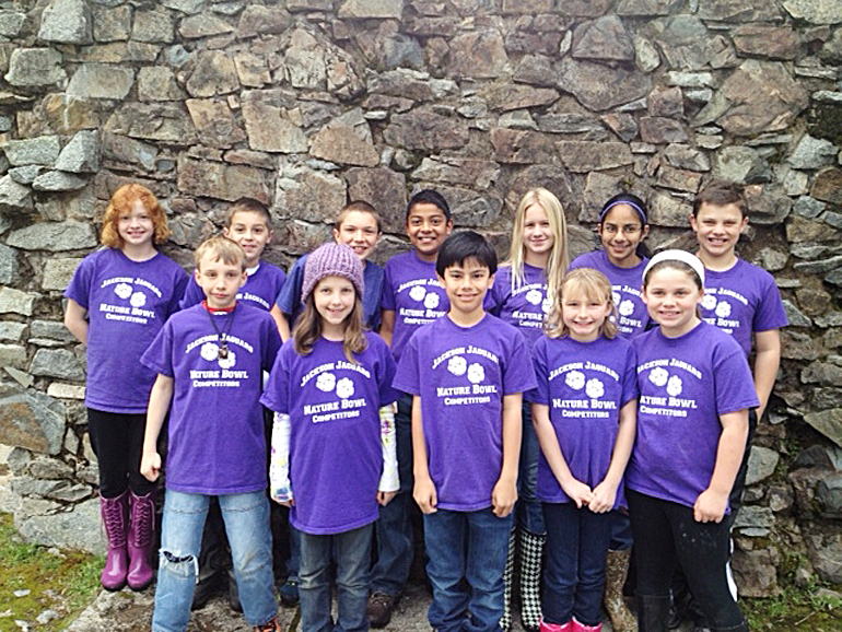 The Jackson Elementary and Marina Village Middle School's team of fifth- and sixth-grader is going to the Nature Bowl State Finals at California State University, Sacramento, on May 5. The sudents are: Grace Cronin, Hailey Klaff, Brenden Groess, Sydney Oberg, Rachel Davis, Jordan Allen, Joseph Delessi Nathan Klaff, Archita Bhattacharya, Margaret Asperheim, Seth Ranaweera and Bryce Groess. Courtesy photo