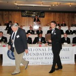 PRESTON DEAN, right, is honored by the Sacramento Valley Chapter of the National Football Foundation for his outstanding athletic, academic and community service accomplishments. Courtesy photo