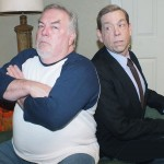 "Mike Jimena and Warren Harrison portray ""The Odd Couple"" in Sutter Street Theatre's production of the Neil Simon classic. Photo by Allen Schmeltz"