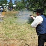 Gunfighters put on a show during the Clarksville Day celebration. Village Life photo by Pat Dollins