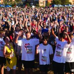 Run For Courage participants celebrate at the start of last year's race. Courtesy photo