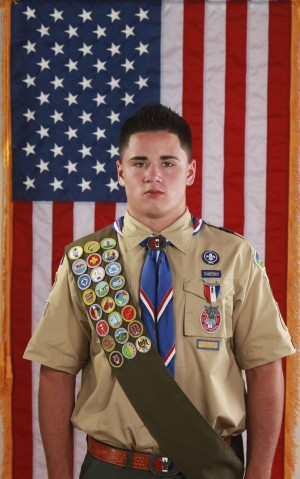 "Trent Buenzli of Troop 454 recently added Eagle Scout to his resume, which also includes Oak Ridge  football player and future television star. Trent will appear on National Geographic's ""Are You Tougher Than A Boy Scout"" this fall. Courtesy photo"