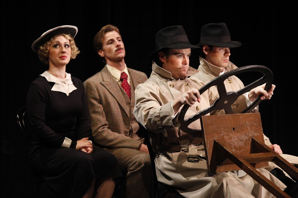 "Four actors take on multiple roles in Alfred Hitchcock's ""The 39 Steps,"" showing at Three Stages on Oct. 23 & 24. Courtesy photo"
