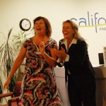 El Dorado Hills Chamber President and CEO Debbie Manning clowns with Alyson Huber