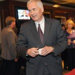 Congressman Tom McClintock celebrates his victory at the Serrano Country Club on Election Night. Village Life photo by Shelly Thorene