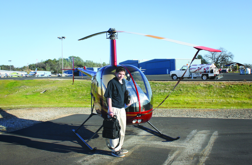 Austin Bowa smiles after passing the tests needed to get a private pilot's license at Auburn Airport on Valentine's Day, which is also Austin's birthday. Courtesy photo