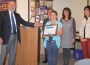 Rotary Club of El Dorado Hills President Wayne Lowery presents Student of the Month Emily Perez with a plaque. The Oak Meadow fifth-grader is joined by Buckeye USD Superintendent David Roth, teacher Sue Burkland and Principal Barbara Narez. Photo by Laurie Edwards