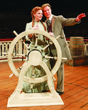 "Jennifer Hope Wills stars as Magnolia and Gordon Goodman as Ravenal in ""Show Boat"" produced by Music Circus at the Wells Fargo Pavilion. Photo by Charr Crail"