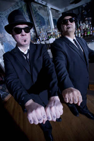 Wayne Catania and Kieron Lafferty star as Jake and Elwood in the Official Blues Brothers Revue. Courtesy photo