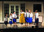 "Learning to sing — Maria  (Jillian Curry), center, teaches Gretl ((Hannah Spears), Marta (Natalie Broadbent) Kurt (Kaden Call), Liesl (Isabella Fay), Luisa (Delaney Kelleher) and Friedrich (Ethan Gomez) musical notes in ""The Sound of Music."""