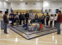 Robotics team compete in the arena at the Oak Ridge-hosted tournament Sunday. Village Life photo by Noel Stack