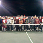 Tennis players braved cold temperatures to play in a fundraiser tournament that benefitted Toys for Tots. Courtesy photo