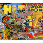 """Hi Captain Atom"" by Micheal Mew, pinned collage, 9 x 18."