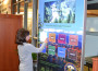 Brooks Elementary student Alex Brown, 9, explores El Dorado County's history at the new interactive kiosk at the El Dorado Hills Library. Village Life photo by Julie Samrick