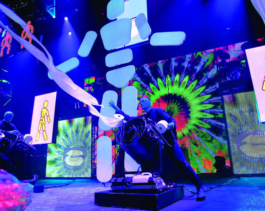 Blue Man Group comes to Sacramento March 11-16. Photo by Paul Kolnik