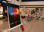 More than 100 pieces of student-created art were on display at OaK Ridge's April 24 open house art show. The show's poster was created by student Zach Peterson. Photo by Josh Prettyman