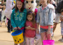 Brittany, 8, Ashlyn, 4 and Hailey Stairs, 11, who are visting from Florida, pose with Peter Cottontail at the Easter Eggstravaganza & Town Center Egg Hunt in El Dorado Hills on Saturday, April 12. Photo by Ernest Valenzuela III
