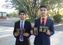 Sanjay Raavi, left, and Shaheryar Ajmal debated their way to the national speech and debate championship this June. The Oak Ridge Students will head to Kansas to face the competition. Courtesy photo