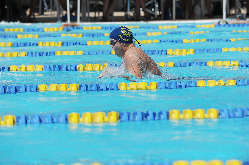 Oak Ridge's Ethan Dillard took first place in two events at the Delta River League finals in El Dorado Hills. Village Life photo by Shelly Thorene