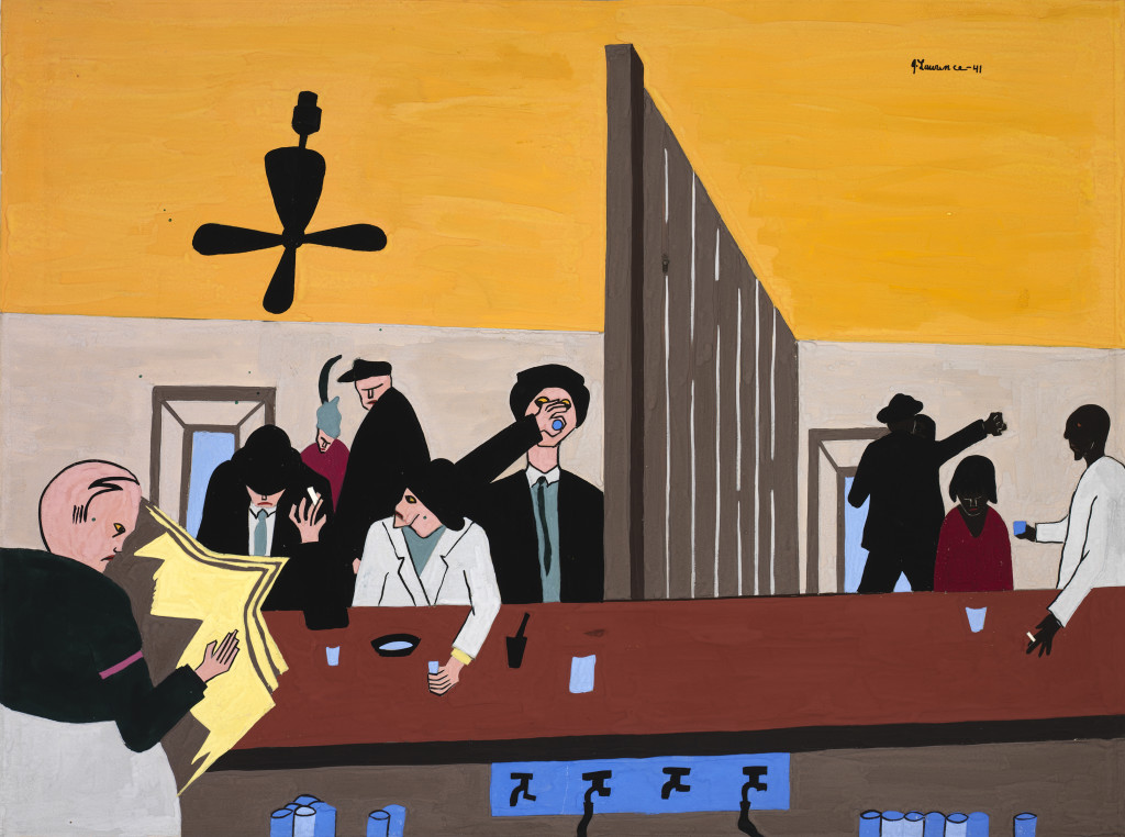 Jacob Lawrence, Bar and Grill, 1941, gouache, Smithsonian American Art Museum, Bequest of Henry Ward Ranger through the National Academy of Design