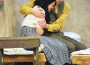 "Otto Frank (Keith Walisa) comforts his daughter Anne (Delaney Kelleher) in Oak Ridge's spring 2014 production of the ""Diary of Anne Frank."" Walisa recently earned an Elly nomination for his role. Director Janet Henke said the young actor had ""a tenderness"" about him that boosted his performance. Village Life photo by Shelly Thorene"