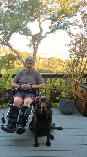 Marty Larsen suffered debilitating injuries in an accident. Thanks to the community's help, he's able to stay in his El Dorado Hills home. Courtesy photo