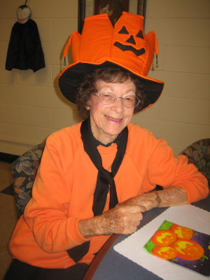 Millie Smith loved participating in and volunteering at senior events. Here's she's all dressed up for the Halloween luncheon. Courtesy photo