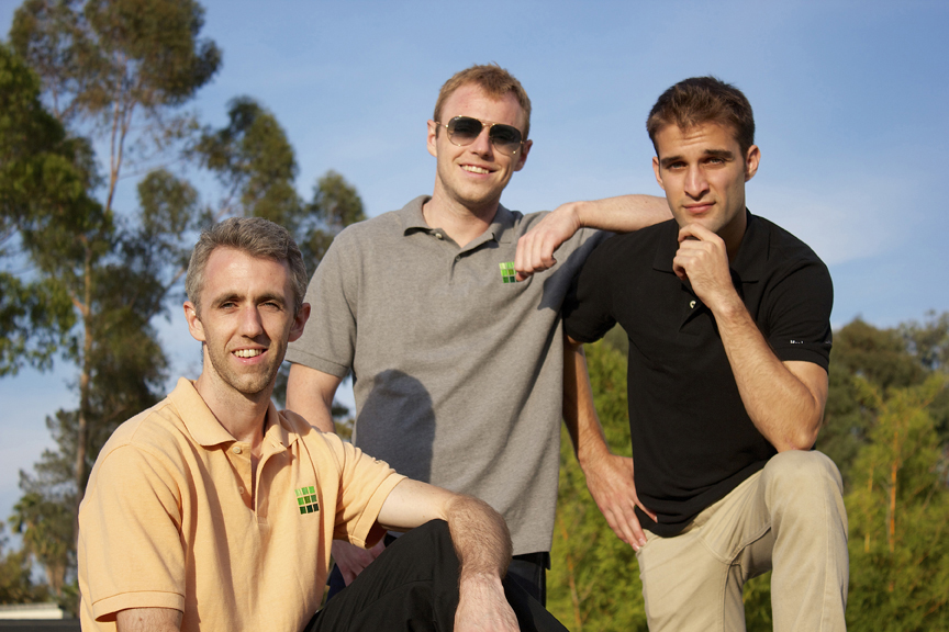 Amjed Aboukhadijeh, right and the Hurley brothers. Courtesy photo