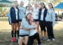 The Oak Ridge varsity girls cross country team, seen here at an earlier meet, took home the Sierra Foothill League title last week. Front left to right: Mikhayla Polivka and Elena Denner, back left to right: Kayla Renner, Sarah Dolley, Arial Hendrickson, Maddy Denner, Gloria Dabiri and Peyton Wright.  Courtesy photo