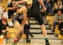 Mikey Mello lifts a Del Oro wrestler across the mat last Thursday. Photo by Kristin Bicocca