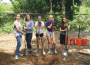 Troop 1879 Girl Scout Juniors Julia Bird, Madi Ciampi, Ryan Cummings, Christina Lindblom and Emma Wise, left to right, recently earned the Silver Award, the highest award Girl Scout Juniors can receive, by sprucing up the dog park in Community Park. Village Life photo by Julie Samrick